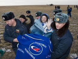 russian soyuz spacecraft lands safely in kazakhstan