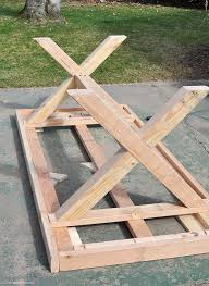 Plans To Build A Picnic Table Bench by Best 25 Outdoor Tables Ideas On Pinterest Farm Style Dining
