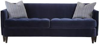 Ava Velvet Tufted Sleeper Sofa by Navy Blue Velvet Tufted Sofa