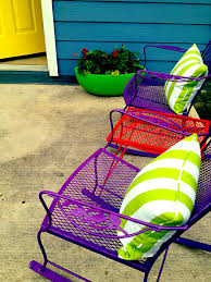 Patio Perfection Austin Interior Design By Room Fu Knockout - Colorful patio furniture