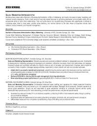 Best Resume Title by Sales Representative Resume Objective Example 6 Free Resume