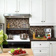 Smart Tiles Bellagio Keystone  In W X  In H Peel And - Peel on backsplash