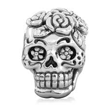 chamilia halloween beads amazon com bella fascini dia de los muertos sugar skull bead