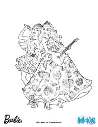 barbie princess and the popstar singing activity coloring pages