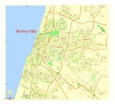 G Map Tel Aviv Yafo Israel Printable Vector Street G View Level 13 2