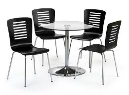 Julian Bowen Kudos Dining Chair Set Of  Amazoncouk Kitchen - Black dining table for 4