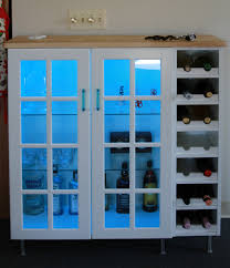 Ikea Glass Shelves by How To Combine Ikea Items To Build Your Own Wine Rack