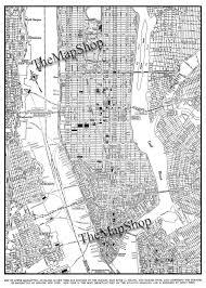 Street Map Of New York City by New York City Map 1944 New York City Manhattan Street Map