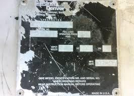 used 50hp gardner denver air compressor model ede99m 185 cfm
