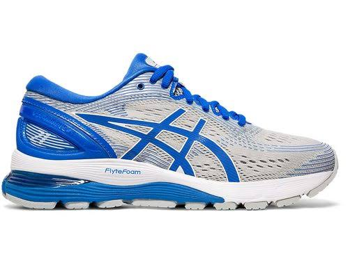 ASICS GEL-Nimbus 21 Lite-Show Running Shoes Blue;Grey- Womens