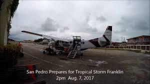 preparation for tropical storm franklin san pedro ambergris caye