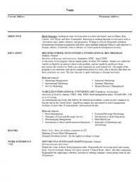 Sales Manager Sample Resume by Resume Template 23 Cover Letter For Sample Hotel Management