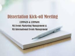 click dissertation Dissertation kick off meeting Dissertation Kick off Meeting LTPP N amp LTPP N MA Events Marketing Management amp MA International