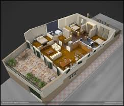architecture 3d floor plan on pinterest plans 2 bedroom design