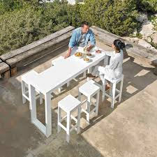 Polyethylene Patio Furniture by Contemporary High Bar Table Polyethylene Thermo Lacquered