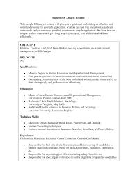 Resume Objective Accounting Objective Statement Examples     Perfect Resume Example Resume And Cover Letter Hr Resume Objective    sample human resources resume entry level easy  resume samples Sample Hr Career