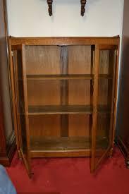 Oak Curio Cabinet Antique Oak Curio Cabinet Curved Glass Tags 53 Rare Antique Oak