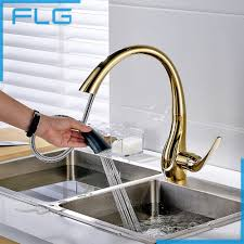 online get cheap gold kitchen pull faucet aliexpress com