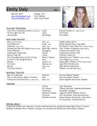 actors resume examples acting resume template free acting resume samples and examples actor resume