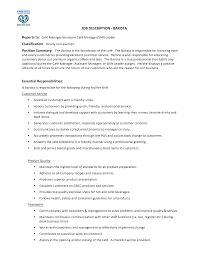 Example Job Resume by Barista Job Description Resume Resume For Your Job Application