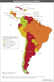 Map Of South America And Caribbean by Download Index Of Economic Freedom Data Maps And Book Chapters