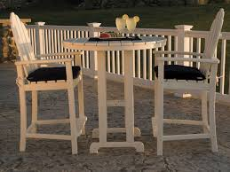 Patio Furniture Counter Height Table Sets - polywood classic adirondack counter height set adironcounterset
