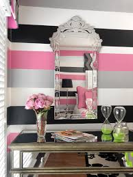 fascinating black white pink bedroom perfect home decoration