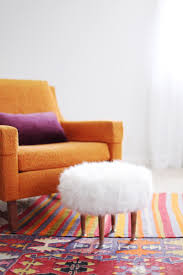 Footstools Ottomans by Diy Faux Fur Footstool Diy It All Pinterest Fur Stools And