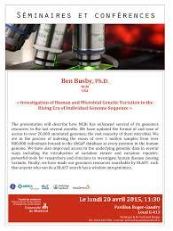 Ben Busby Programmes de bio informatique   Universit   de Montr  al