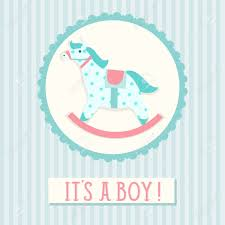 Baby Shower Invitation Cards Templates Baby Shower Invitation Card Template With Rocking Horse Royalty