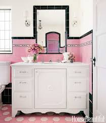 bathroom with colorful tile 1930s bathroom design