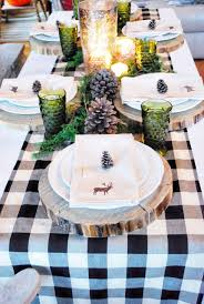 Black Blue And Silver Table Settings 35 Christmas Table Decorations U0026 Place Settings Holiday Tablescapes