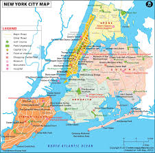 United States Map Major Cities by Nyc Map Map Of Nyc