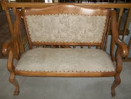 Antique Rocking Chair Prices Matching Oak Settee And Rocking Chair Era 1920 U0027s For Sale