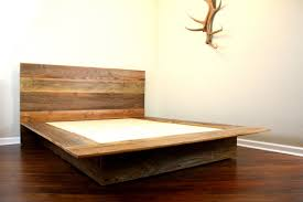 Build Your Own Platform Bed Base by Rustic Style Natural Wood Platform Bed Furniture For Minimalist