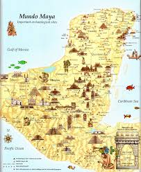 Mexico Cities Map by Maya The Mundo Maya Map Maya And History
