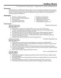 Examples Of Professional Summary For Resume by Best Security Supervisor Resume Example Livecareer