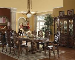 Acme Furniture Dining Room Set Round Glass Dining Table Vendome Cherry By Acme Furniture Ac62010
