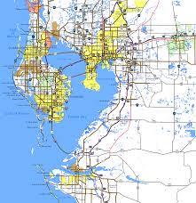 Map Florida Gulf Coast by Interstate Guide Interstate 275 Florida