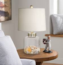 Amazon Table Lamps Glass Canister Small Fillable Accent Lamp Table Lamps Amazon