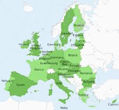 Western Europe Political Map by Member State Of The European Union Wikipedia