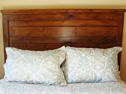 How To Build A Queen Platform Bed Frame by How To Build A Rustic Wood Headboard How Tos Diy