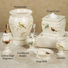 Coastal Bathroom Accessories by Home Bath Bath Accessories Gilded Bird Ceramic Bath Accessories