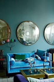 Jewel Tone Living Room Decor Color Clash Emerald And Teal Emily Henderson
