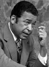 Edward Brooke, R-Mass., talks with reporters in Heidelberg, Germany, in 1973. Jim Cole/Stars and Stripes - 3000284464