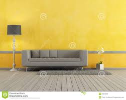 gray and yellow living room royalty free stock image image 30926656