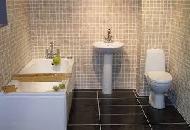 getting clean and sleek bathing space through simple bathroom