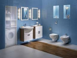Bathroom Sink Ideas For Small Bathroom Love The Color Blue In This Bathroom Contrasting With The White