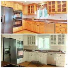 Refinishing Kitchen Cabinets Best 25 Cabinet Transformations Ideas On Pinterest Refinished