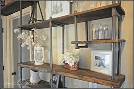 Custom Bookshelves Cost by Remodelaholic Build A Budget Friendly Industrial Shelf Using Pvc